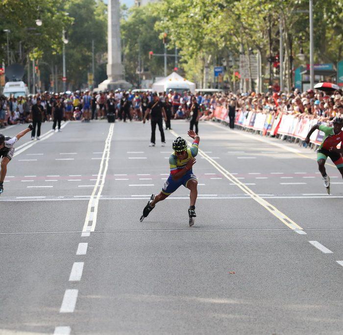 13.07.2019 World Roller Games Barcelona / 100m Finals